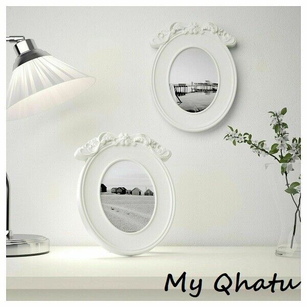 """IKEA KVILL Frame Photo Picture white oval picture 5 x 7"""" New"""