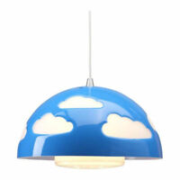Ikea Skojig Clouds Ceiling Light Blue/ Lumiere Nuages Bleu