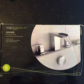 Bath Taps Aqua Fresca Contemporary Cascade Chrome Bath Filler BRAND NEW IN BOX