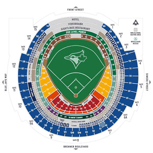 500s behind home plate Jays, 4 tickets GIVEAWAY GAMES