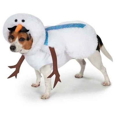 Casual Canine Mustache Snowman Dog Puppy Christmas Halloween Costume Misc Sizes - Dog Snowman Costume