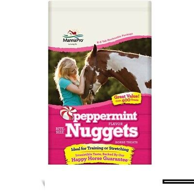 Manna Pro Peppermint Bite-Size Nugget Treats Horses Will Love 4lbs.