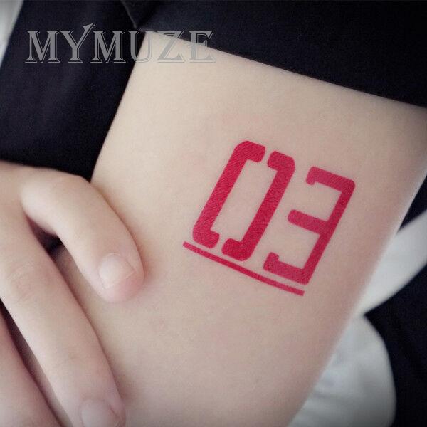 3 Cosplay Tattoo Sticker Temporary Tatoo Vocaloid Megurine Luka No