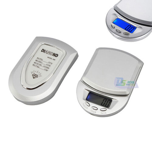 500g x 0.1g Mini Digital Diamond Jewelry Pocket Balance Weight Scale Gram LCD