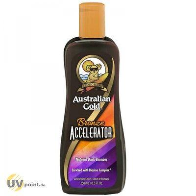 AUSTRALIAN GOLD BRONZE ACCELERATOR 250ml Solarium Kosmetik Sonnen Lotion Creme