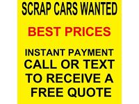 Scrap cars wanted, we buy your scrap car with instant payment