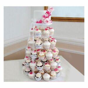 Présentoir/ Stand Cupcakes En Acrylique / 6 Niveaux