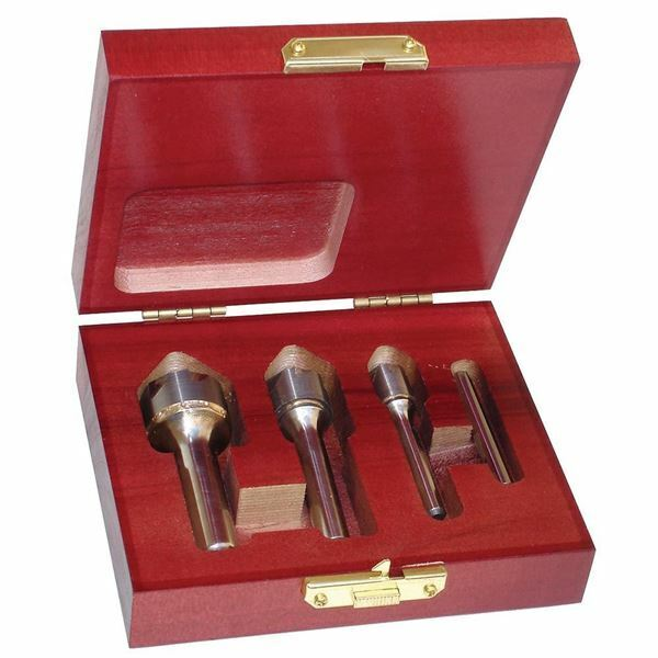 Rushmore 4 Pc 82° Carbide Six Flute Countersink Set