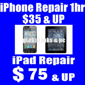 Cracked iPhone? $40 & Up - iPad Repair from $75 & Up