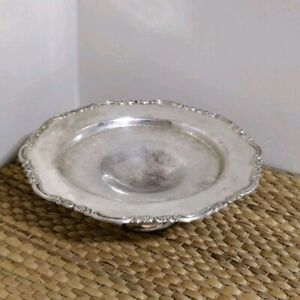 """10"""" Silver Plated Pedestal Cake Stand"""
