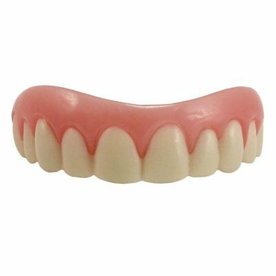 SECURE INSTANT SMILE False Fake Cosmetic Artificial Veneer Teeth LARGE -