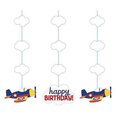Airplane Birthday Party Supplies (Lil Flyer Airplanes Party Supplies PLANE IN THE SKY BIRTHDAY HANGING)