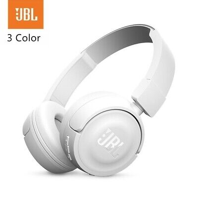 JBL T460BT Wireless On-ear Bluetooth Headphones with JBL Pure Bass Sound - White