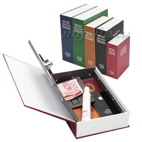 Home Security Dictionary Book Secret Safe Storage Key Lock Box Cash Jewellery