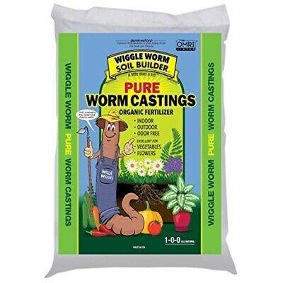 Wiggle Worm (#WWSB30LB) Worm Castings Organic Fertilizer, Soil Builder, 30-Pound