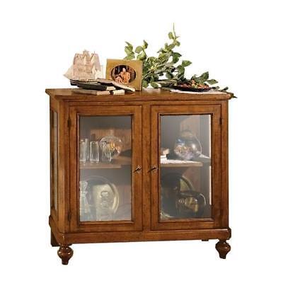 Vitrina baja de madera con puertas en vidrio, mueble vitrina de comedor, usado segunda mano  Embacar hacia Spain