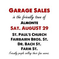 GARAGE SALES IN ALMONTE: Saturday, August 29