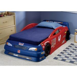 Step 2 Convertible Race car bed with mattress
