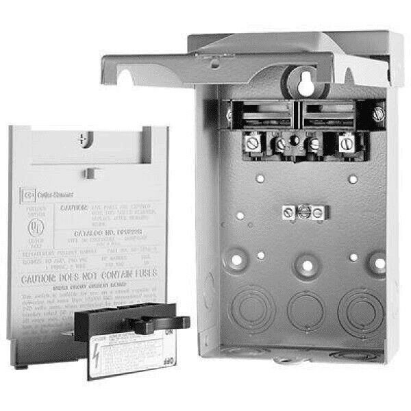 Eaton DPU222R 60 Amp Air Conditioning NON-FUSIBLE Disconnect Outdoor 240V