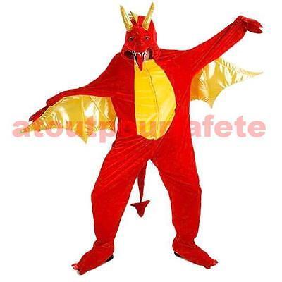 Kostüm Drachen- rot,BD,Zeichnung Zeichentrick-,Spiele Video,Rolle,Zubehörteil,