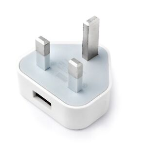 CE Colour PLUG WALL MAINS USB CHARGER ADAPTER FOR iPhone 4 4s 5 iPod Samsung HTC