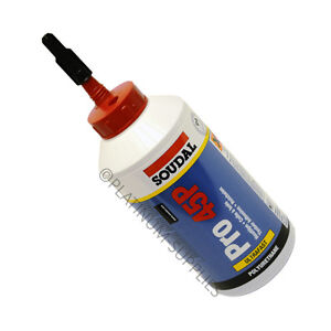 SOUDAL PRO 45P POLYURETHANE PU WATER RESISTANT WOOD GLUE ADHESIVE 750G FAST DRY