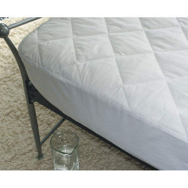 Cotton Covered Quilted Mattress Protector 38cm Deep King Bed Anti Allergy