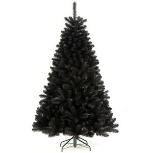 New 7ft Full Black Glacier Pine Tree Artificial Christmas