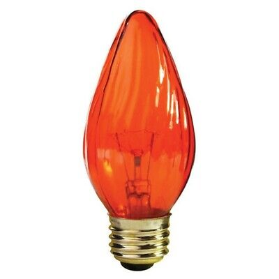 120v F15 Medium Base (Satco S3366 25W 120V F15 Amber E26 Medium Base Incandescent light)