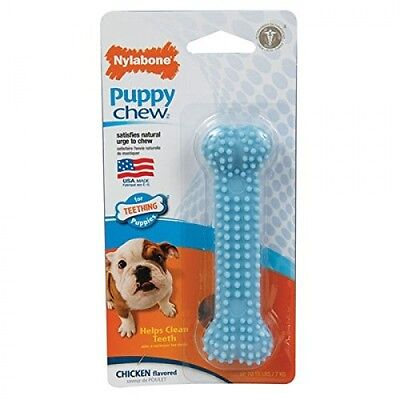 Nylabone Puppy Dog Chew Dental Bone Chew Toy USA ~ PICK COLOR - Dog Chew Toy