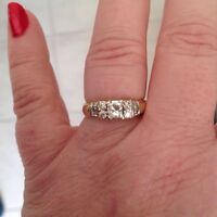 Yellow Gold Princess Diamond Ring - Size 8