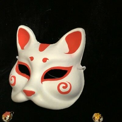 Hand Painted Animal Mask Fox Mask for Halloween Mask Costume Cosplay Japanese - Fox Costumes For Halloween