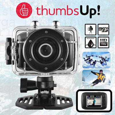 ThumbsUp! 1.3MP HD Video Recording Waterproof Sports Action Camera w/ LCD Screen