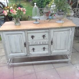5ft solid oak shabby chic sideboard