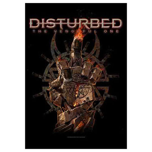 """DISTURBED Vengeful One Tapestry Cloth Poster Flag Wall Banner 30"""" x 40"""""""