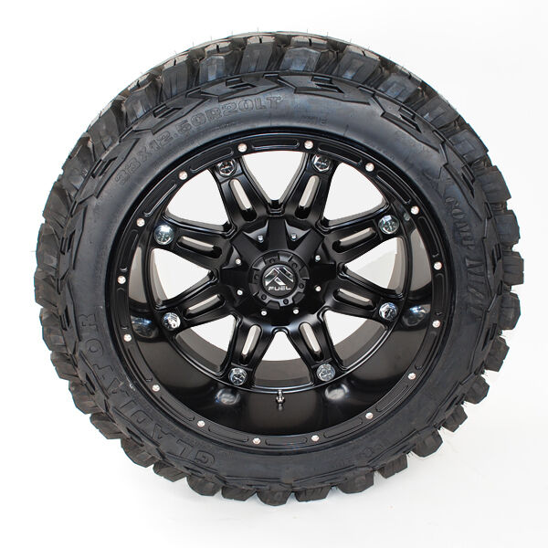 20x12 Fuel Hostage D531 Black 33x12.50r20 Gladiator Xcomp Wheels Tires