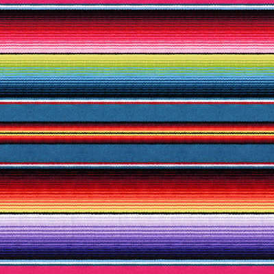 Fiesta Sombrero Blanket Stripe Cotton PRINT By The yard fabric Purple Blue Red  (Sombrero Stoff)