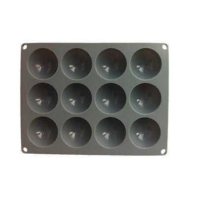 Platinum Small Square Plate -  Plate 12 Small Domes Platinum Silicone Cake Mold Tray Square Mould Bakeware