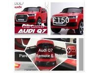 Audi Q7 In Red Lights, Music , Door Open Parental Remote & Self Drive Ride-On