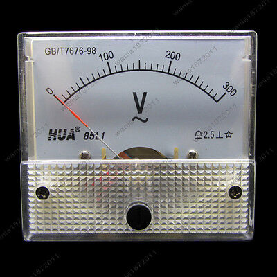Ac 300v Analog Voltmeter Panel Pointer Volt Voltage Meter Gauge 85l1 0-300v Ac