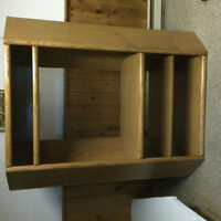 Oak Finish Corner Enterntainment Unit