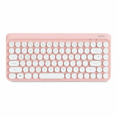 Actto Retro Mini Wireless Keyboard KBD-50 Pink Color