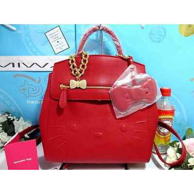 ❦ Hello kitty Samantha Vega 2WAY rucksack Bag pack leather Tote Hand bag - Hello Kitty Bag Pack