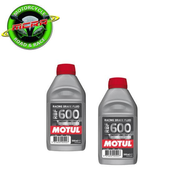 2x Motul RBF600 High Performance Racing Brake & Clutch Fluid 500ml