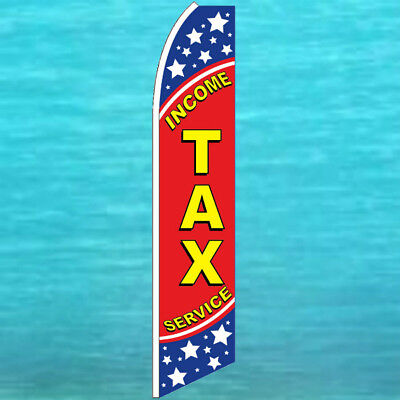 Income Tax Service Flutter Flag Tall Advertising Sign Feather Swooper Banner 152