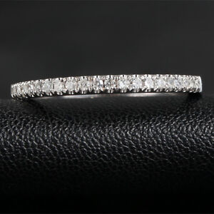 French-Micro-Pave-Half-Eternity-H-SI-Diamonds-14K-White-Gold-Wedding-Band-Ring