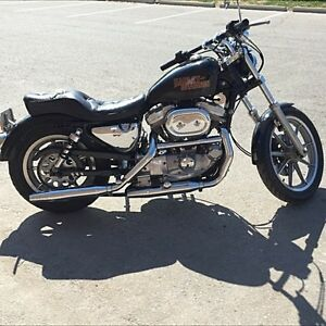 Vintage Harley Davidson Black Cruiser
