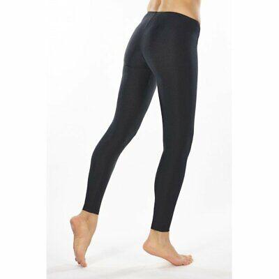 Lycra Spandex Leggings (Neon Black Spandex 80's Disco Dance Cyber Rave Lycra Leggings Yoga Fancy Dress)