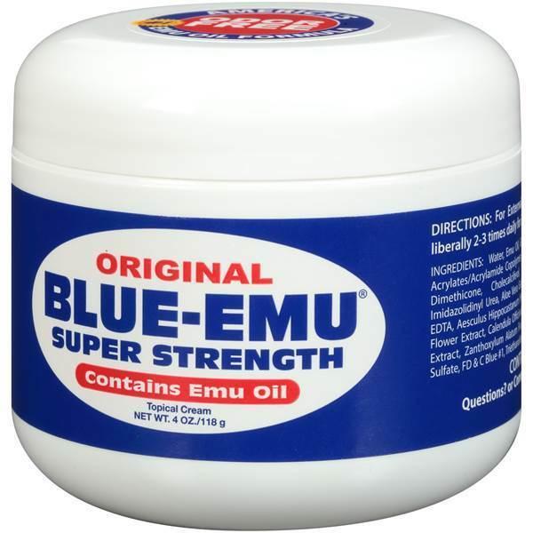 Blue-Emu Super Strength Emu Oil, 4 Oz FREE SHIPPING!!