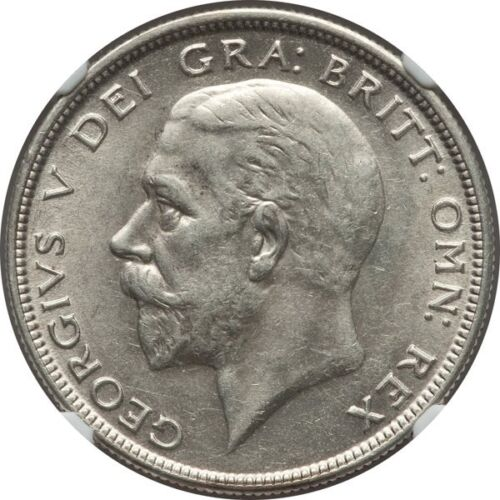 GREAT BRITAIN GEORGE V 1930 HALF-CROWN, ALMOST UNCIRCULATED CERTIFIED NGC AU-58